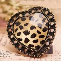 Кольцо Леопардовое сердце #2167