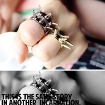 Кольцо с шипами #7715