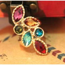 Разноцветное Кольцо #7929