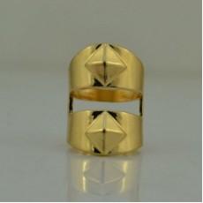 Широкое Кольцо с шипами размер 16 #5715