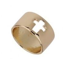 Литое Кольцо с крестом  #6176