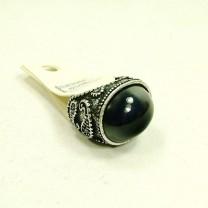 Кольцо с орнаментом и камнем #6302