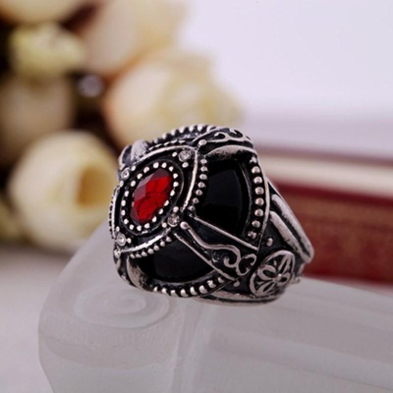 Кольцо Серебро и Рубин #3274