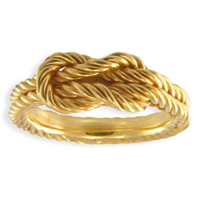 Кольцо Морской узел #4127