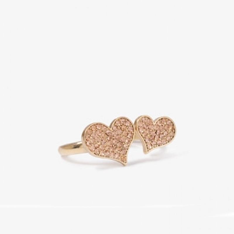 Кольцо Сердечки #9105