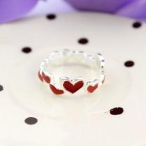 Кольцо из сердечек #1371