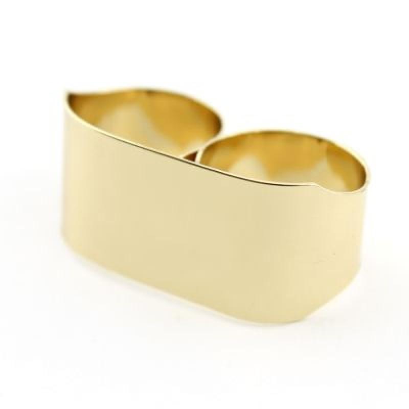 Широкое Кольцо на 2 пальца #6178