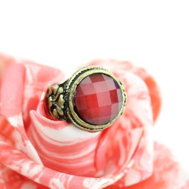 Широкое Кольцо с Круглым Камнем #2129