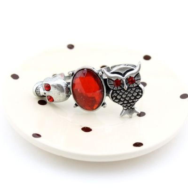 Кольцо Череп и Сова #5977