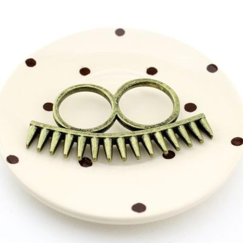 Двойное Кольцо с Шипами #4358
