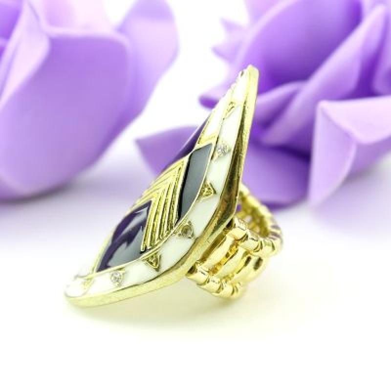 Кольцо с Эмалью #3335