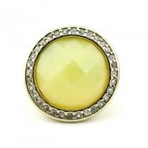 Кольцо с Круглым Камнем #3704