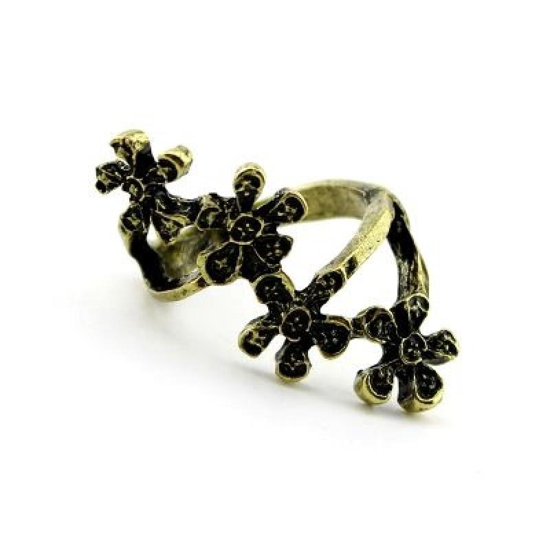 Кольцо с цветами #2501
