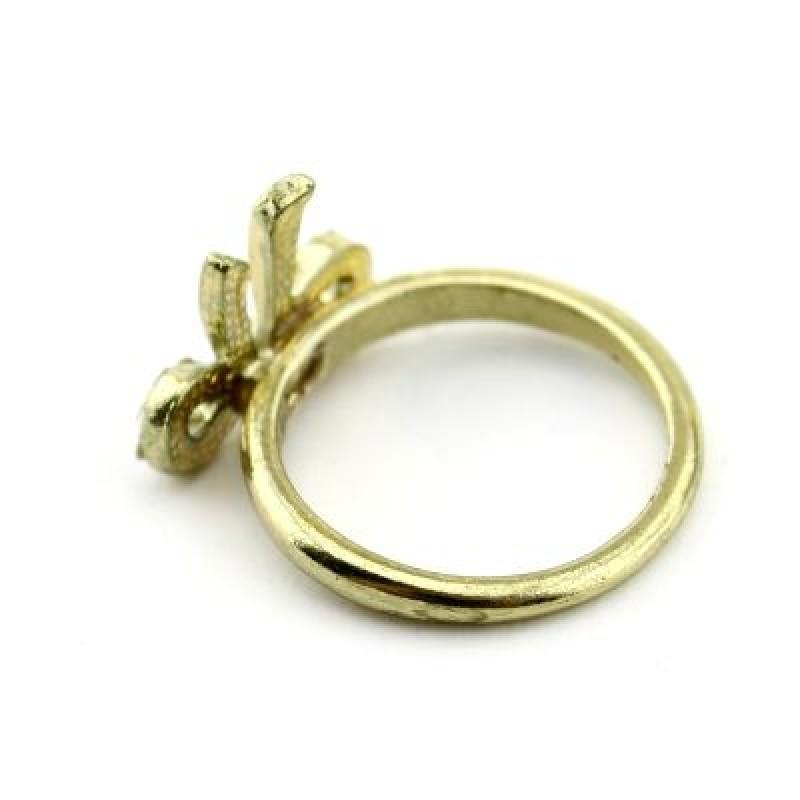 Кольцо Бантик с кристаллами #4110