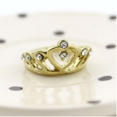 Кольцо Корона с сердечком #2511