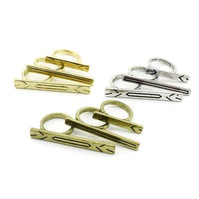 Кольцо Планки с орнаментом (набор 3 шт) #6212