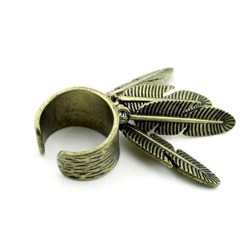Кольцо Перья #4350