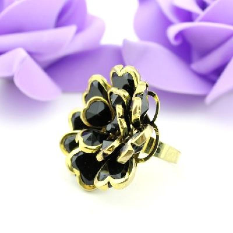 Кольцо Цветок из сердечек #7961