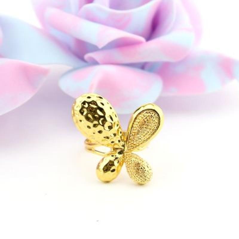 Кольцо Бабочка со Стразами #6415