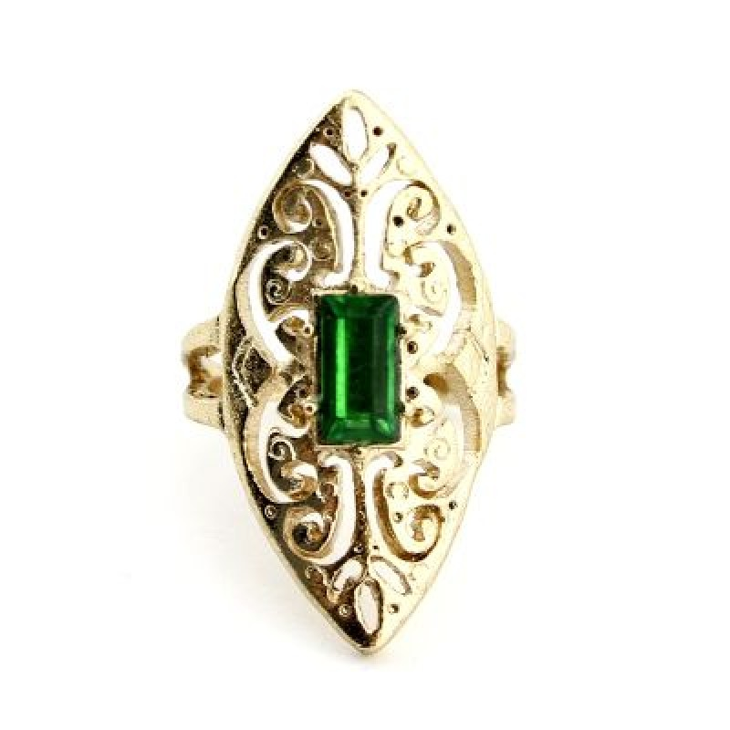 Кольцо с Изумрудным Камнем Р-р20 #4684