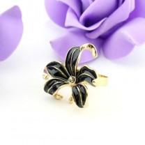 Кольцо Эмалевый Цветок #6241