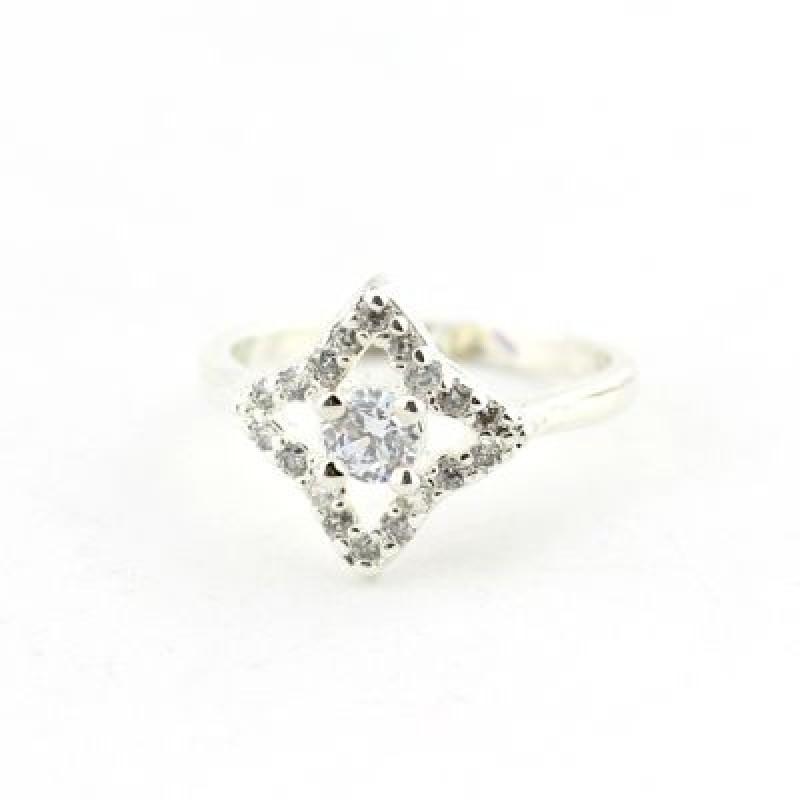 Посеребренное кольцо Звезда 17 р-р #4566