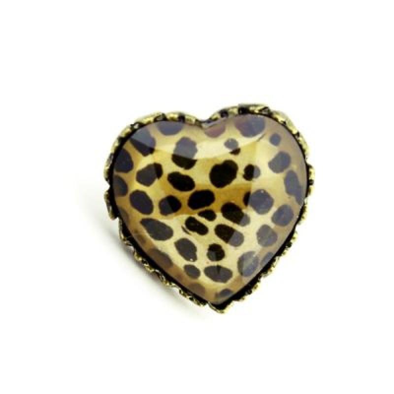 Кольцо Сердце с принтом #1321