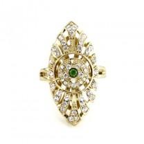 Кольцо с Зеленым Камнем #4673