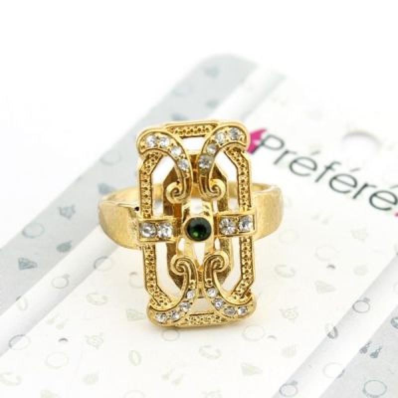 Прямоугольное Кольцо Изумруд #4703