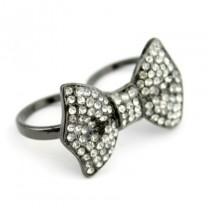 Кольцо-Бант на два пальца #1057