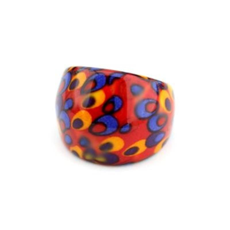 Яркое пластиковое Кольцо #2209