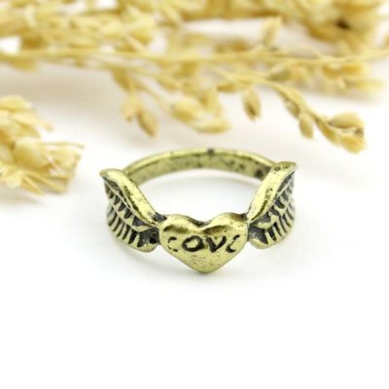 Кольцо с Сердцем и Крыльями #1395