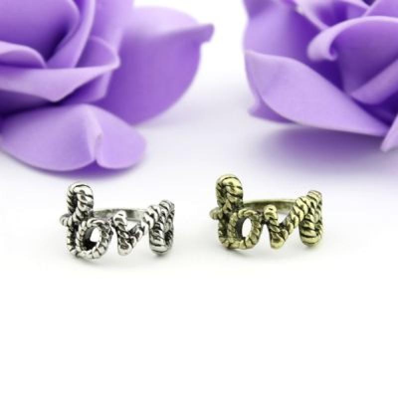 Серебристое Кольцо LOVE #7220