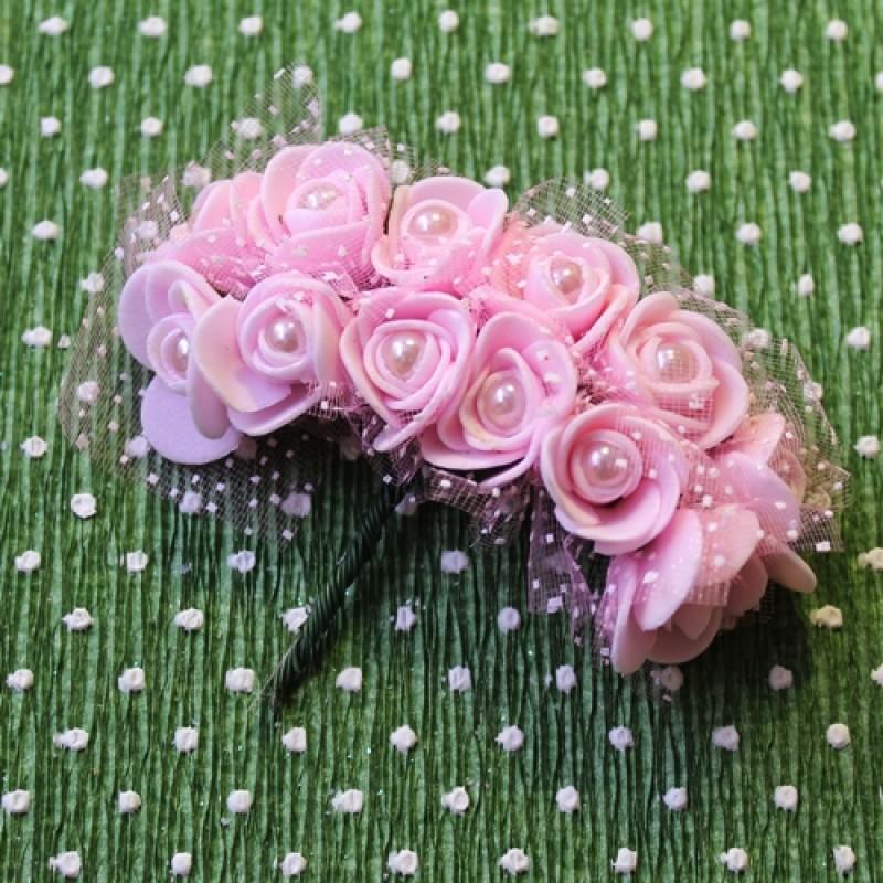 Связка из цветов 12шт с жемчуженкой #5517