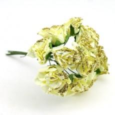 Связка цветов с золотинкой 12шт #11052