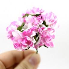 Связка из бумажных цветов 6шт Розовые #11057