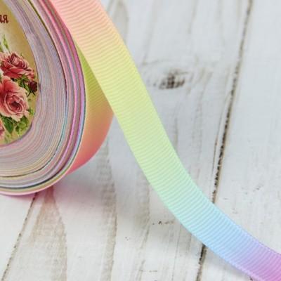 Лента репсовая «Радуга», 15мм, разноцветная #1699