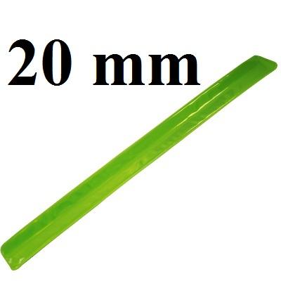 Лента светоотражающая 20мм, 1метр #5791