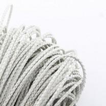 Шнур кожаный плетёный D=3 мм Белый 50 см #2682