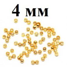 Кримы Стоплеры D=4 мм 1гр (12 шт) #3822 Золотые
