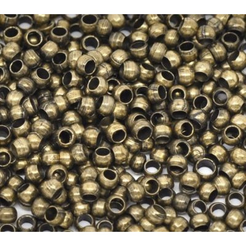 Кримы-шарики Стоплеры D=4 мм 1гр (10 шт) #3823 Бронза