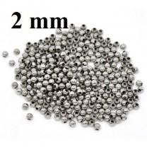 Бусины-разделители (кримпы) D=2 мм (45 шт) #1449