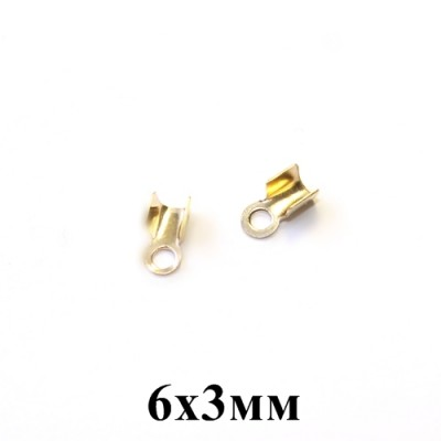 Концевики-Зажимы 6х3 #5302