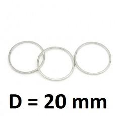 Колечки D=20мм Серебро, 1шт #2724