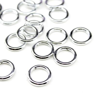 Кольцо металлизированное D=14мм серебрянное  #5318