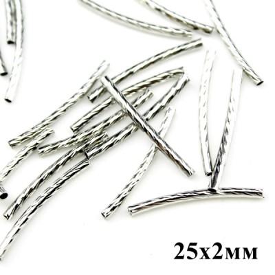 Трубочки декор-ные 25х2мм, 1гр (8шт) #6103