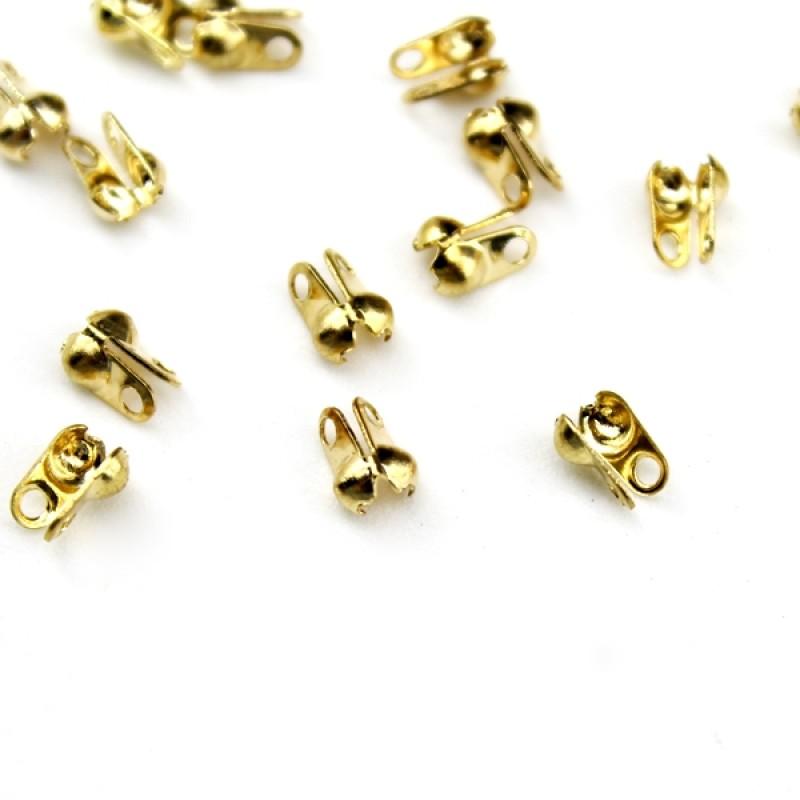 Каллоты-зажимы 3-4 мм 1 гр (12 шт) #3824