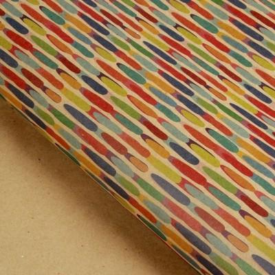 Бумага упаковочная крафт Дождик, 70 х 100 см #10697
