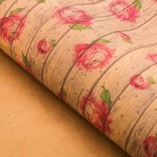 Бумага крафтовая «Для тебя» пионы, 70 × 100 #10755