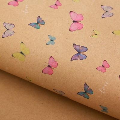 Бумага крафт «Воздушные бабочки», 50 х 70 #10776